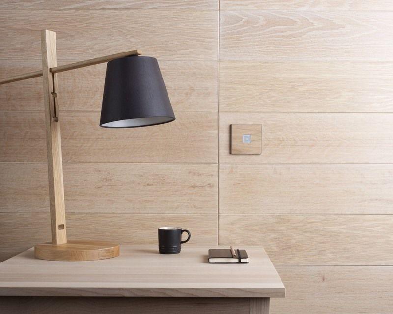 Moderne Lichtschalter In Holzoptik Fr Das Wohnzimmer