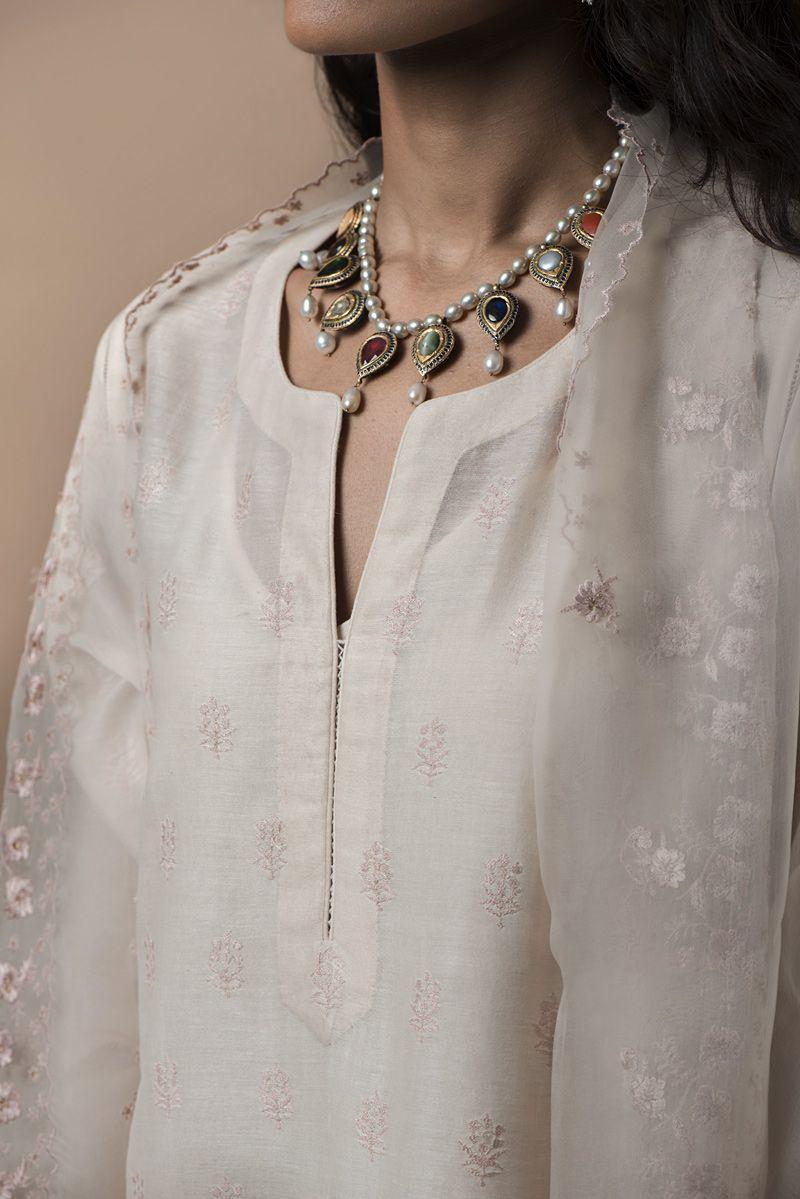 Details about  /Handmade Chikankari handwork Kurta Summer Wear Kaftan summer outfit with inner