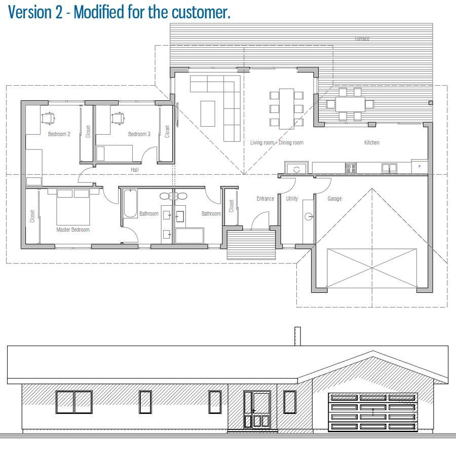 Modified house plan