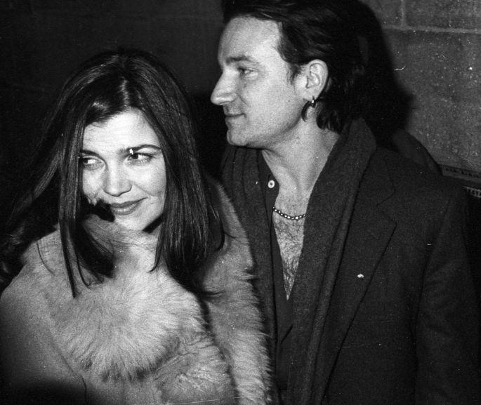 15/2/1994 - Bono and wife Ali arrive at The Kitchen nightclub for opening night. Photograph: The Irish Times | Bono family, Ali hewson, Bono