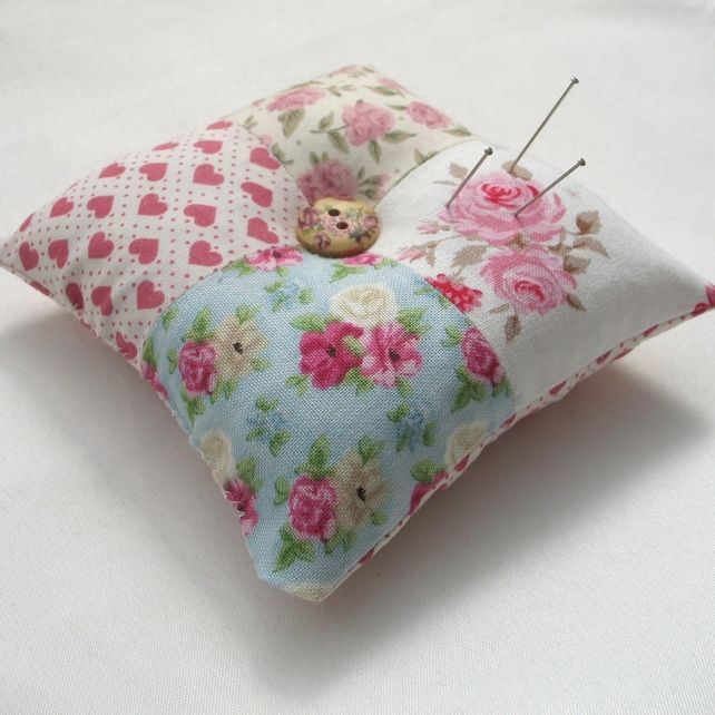 Pincushion Patchwork Shabby Chic Roses £5.95  ee2c3e5c6b
