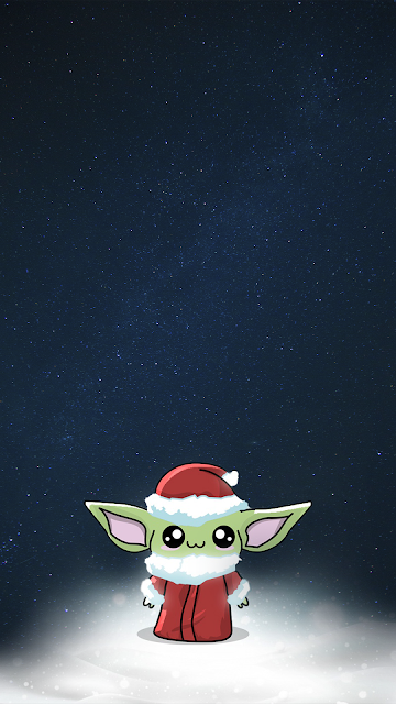 Baby Yoda Wallpaper Christmas Mandalorian Star Wars