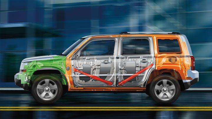 Jeep Patriot Features Door Guard Beams That Help Protect