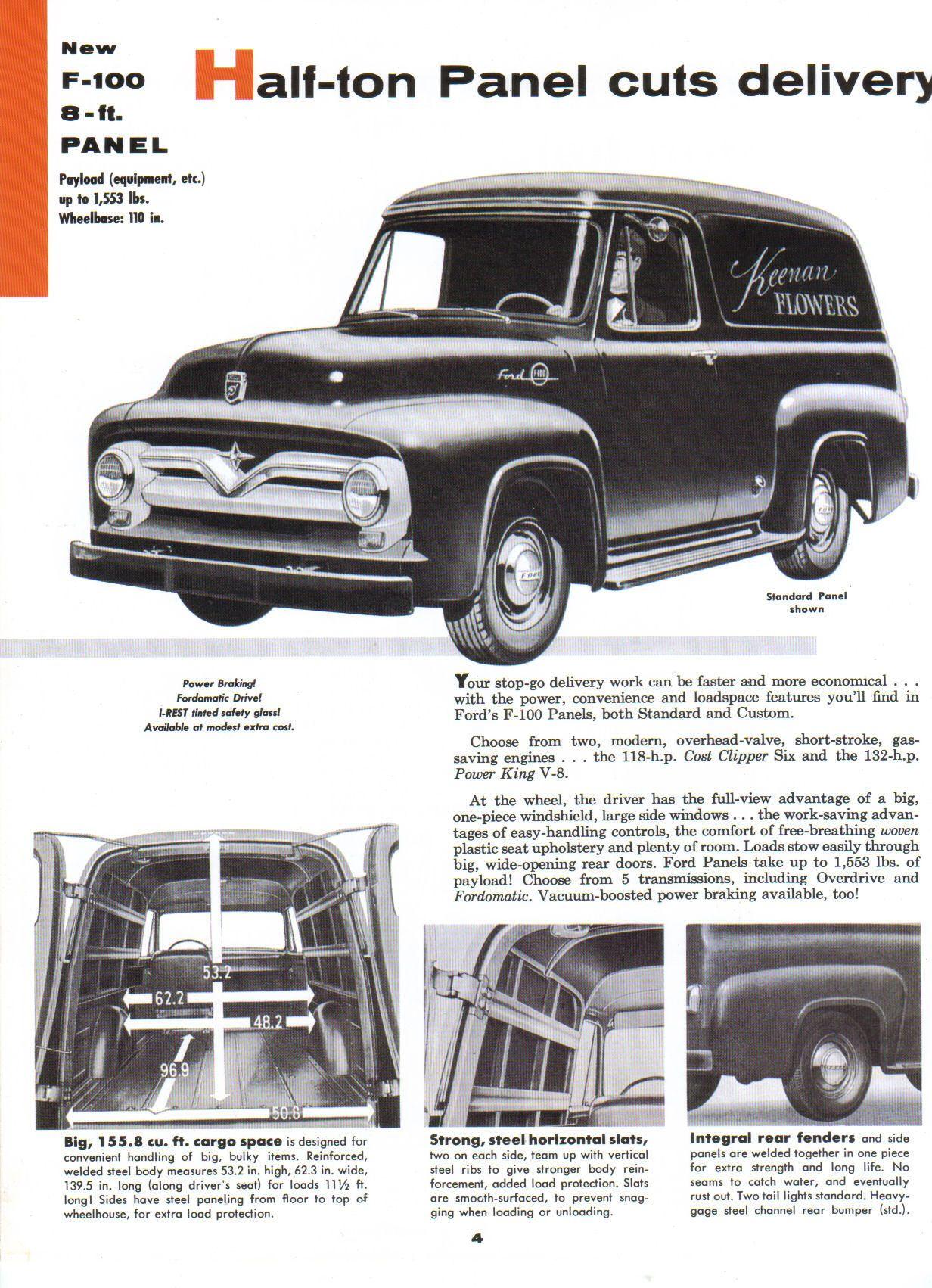 1955 Ford F 100 04 Classic Cars Pinterest Trucks F100 Side
