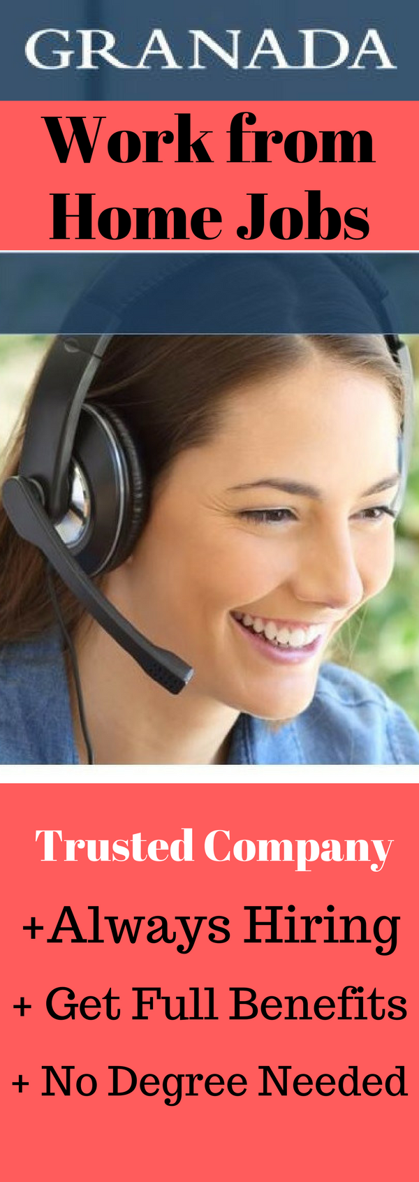 Work from Home Jobs Hiring Now. Legitimate Work from Home Jobs Hiring Now.  Granada is Hiring Work from Home Customer Service Representatives in 8  States.