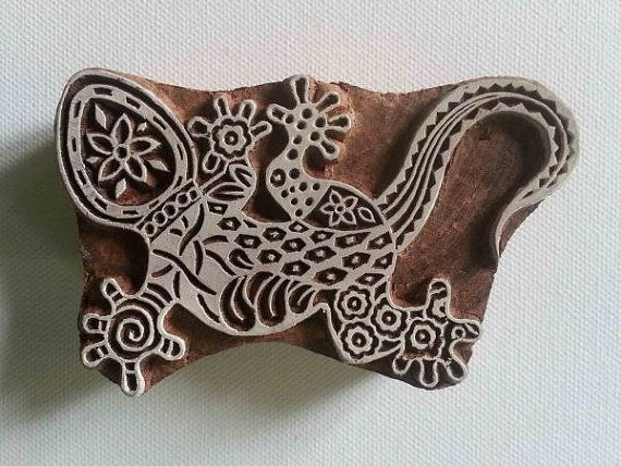 DIY Henna Fabric Textile Paper Clay Pottery Block Printing Stamp Stylish Print Blocks Lezard Designs Wooden Stamps