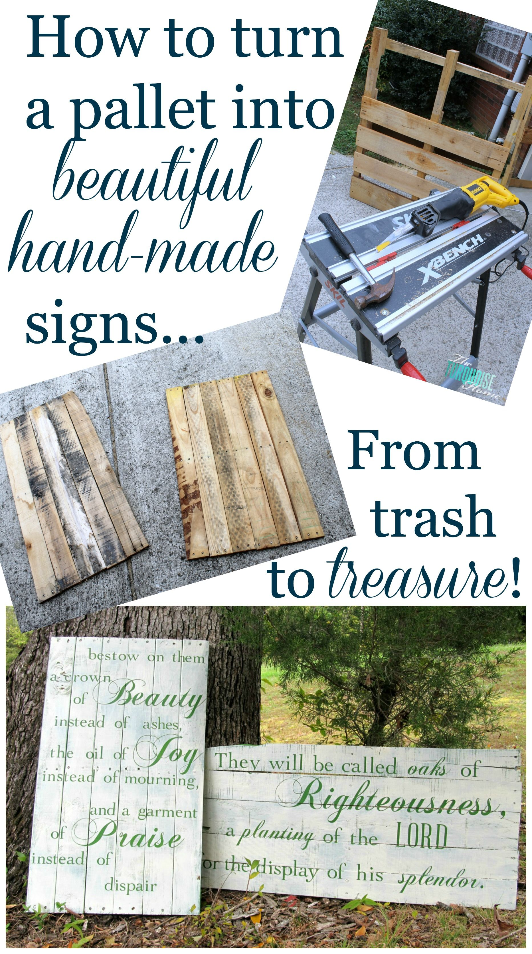 Pallets Knutselen How To Make Beautiful Hand Painted Signs From Pallets Knutselen