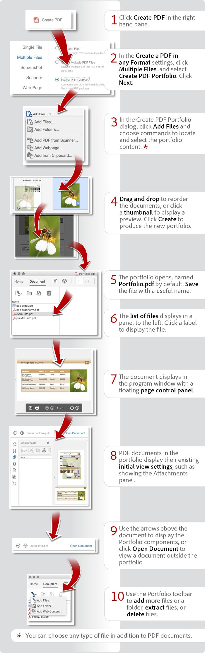 How To Combine Files To Create A Pdf Portfolio Using Acrobat Dc Pdf Combination Tutorial