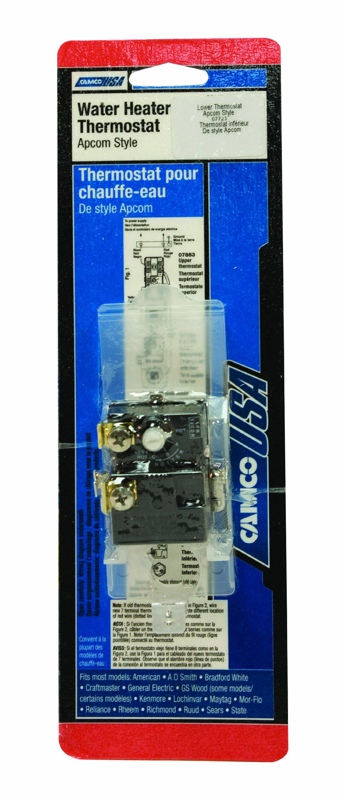 Camco 07723 Wh9 Lower Thermostat Apcom Style Ad Camco Affiliate Style Apcom Thermostat With Images Camco Thermostat
