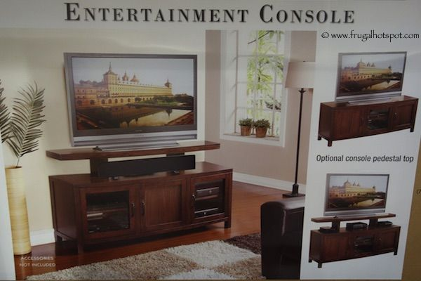 Regal Living Weston TV Entertainment Console Costco 60 W x 18 D x 30