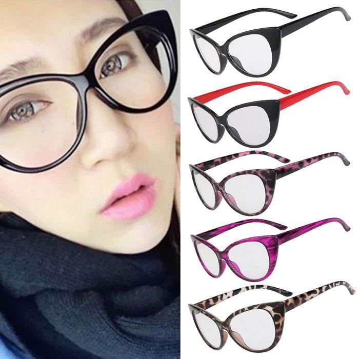 6eb17e96c9 50S 60S Vintage Style Clear Lens Cat Eye Sunglasses Retro Rockabilly Glasses  Ma