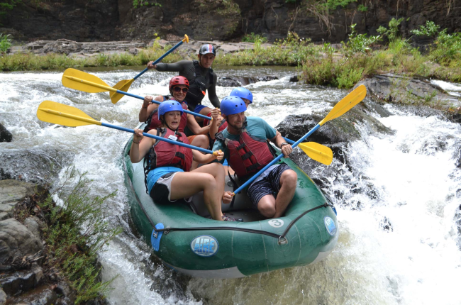 Maneuvering the rapids in the Tenorio River Guanacaste, Costa Rica #rafting #fun #cool