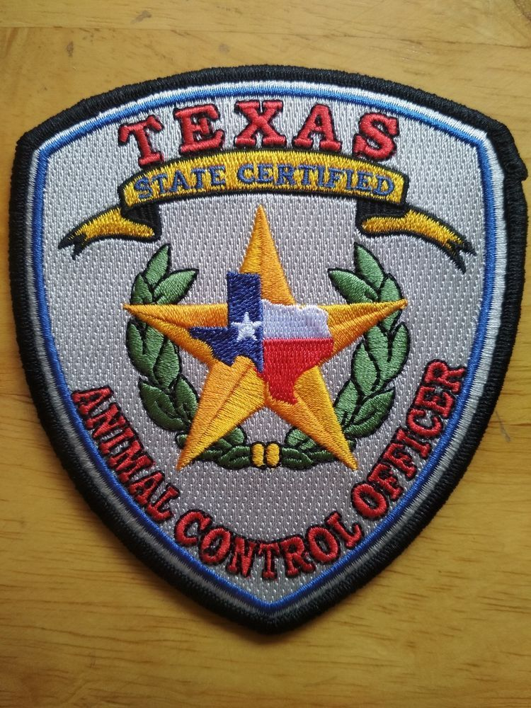 Free Shipping TEXAS STATE CERTIFIED Patch Animal Control
