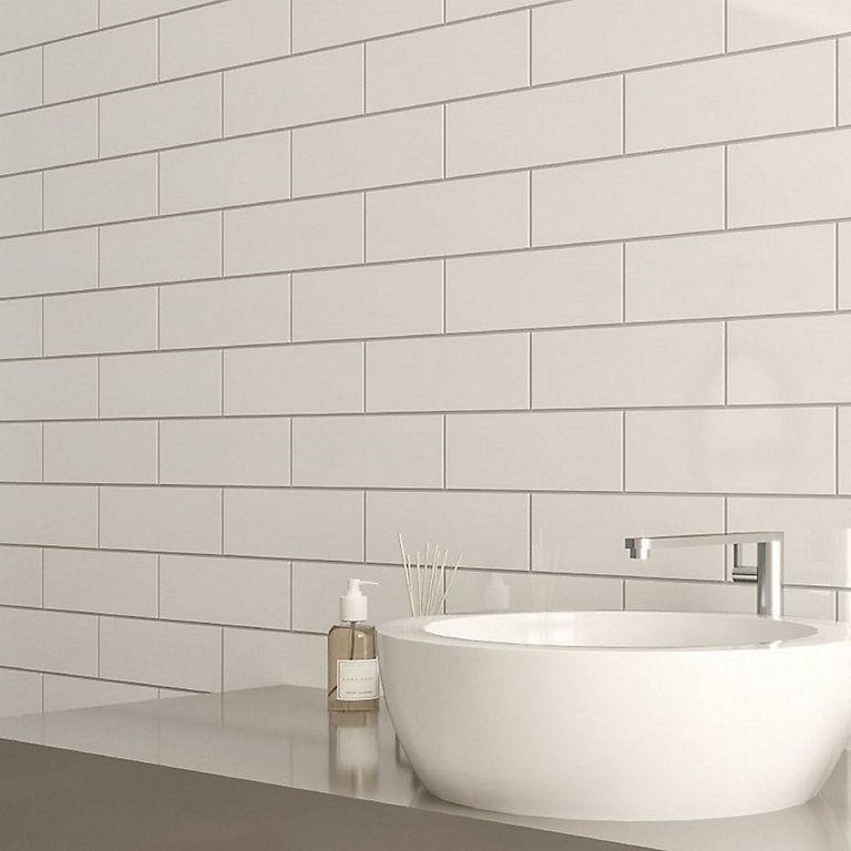 Windsor White Gloss Ceramic Wall Tile Pack Of 30 L 300mm W 100mm Diy At B Q Ceramic Wall Tiles Wall Tiles Diy Wall Tile