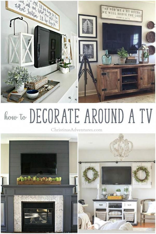 genius ideas for how to decorate around a tv  lots of