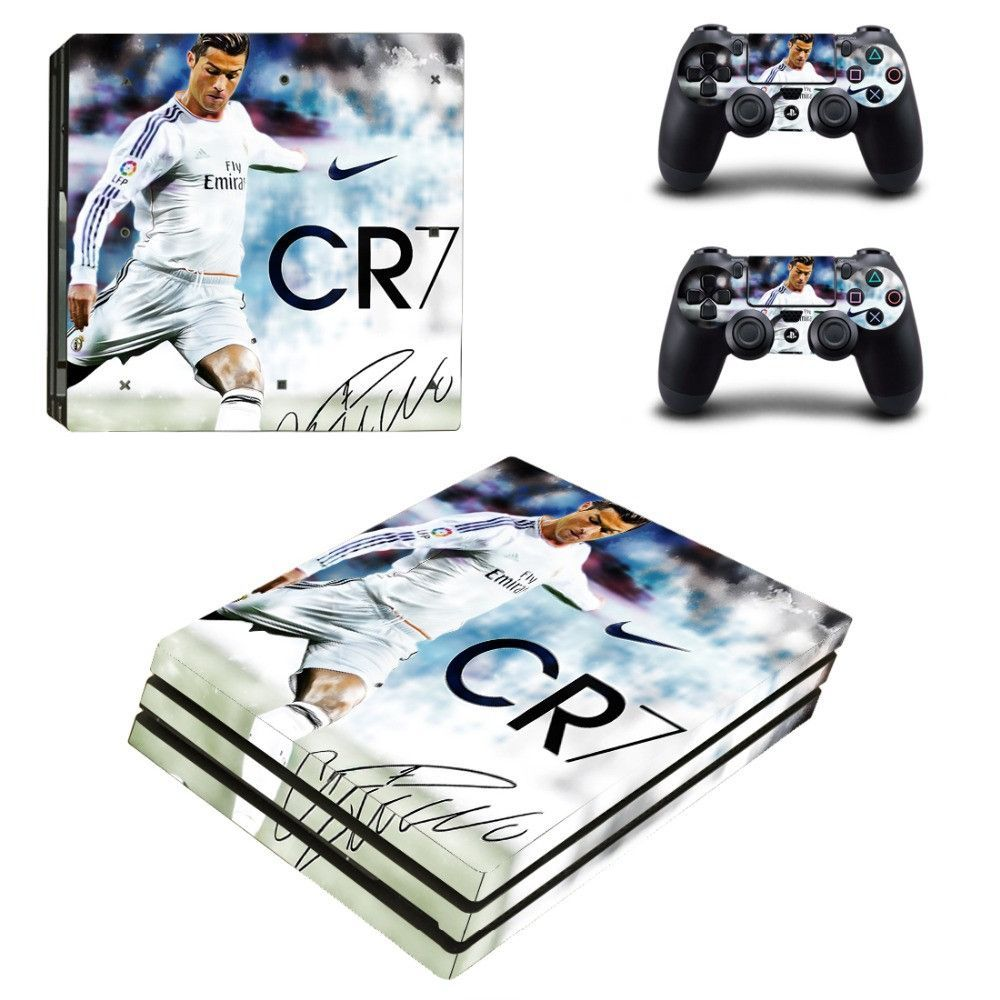 PS4 Pro Skin Sticker CR7 Cristiano Ronaldo Decal Cover For