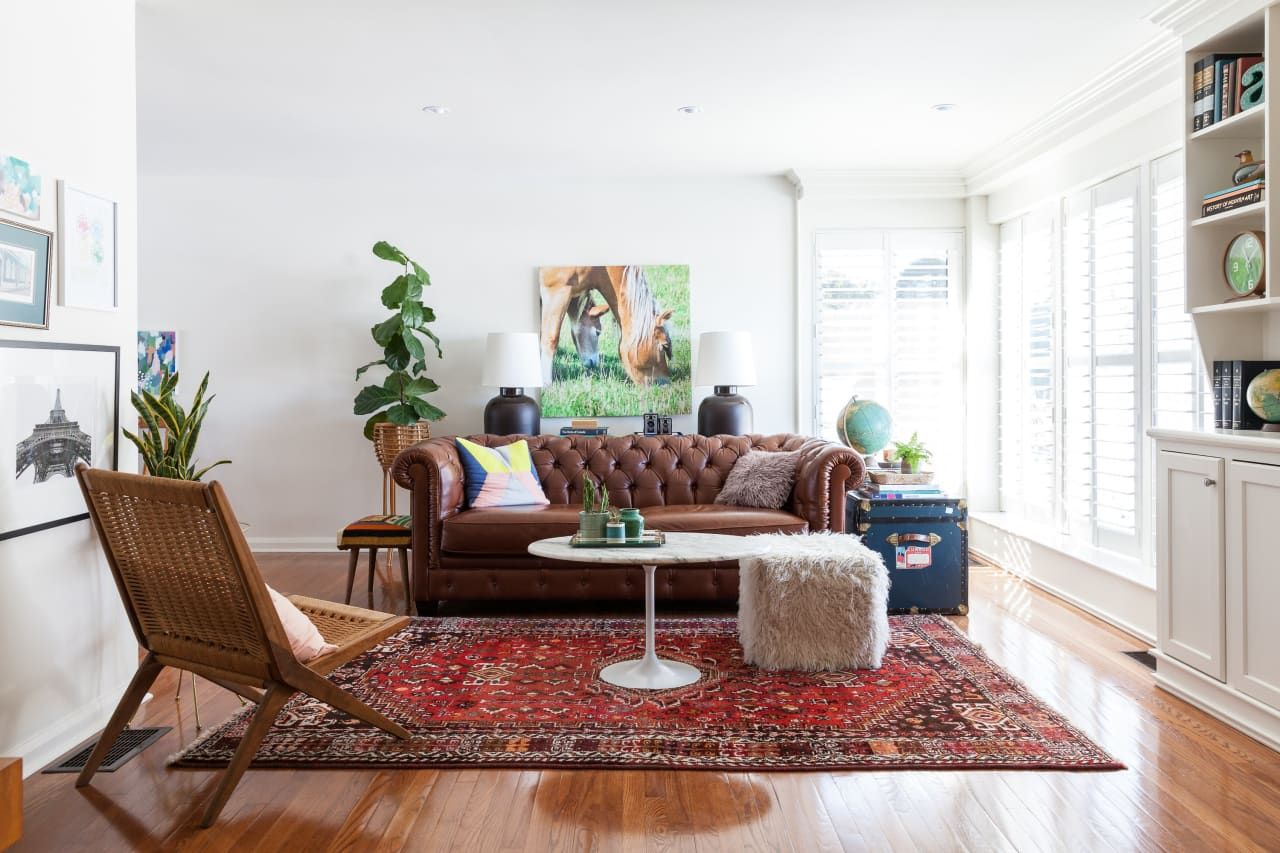 Holly Ryan S Modern Vintage Mix Oriental Rug Living Room Retro Home Decor Rugs In Living Room