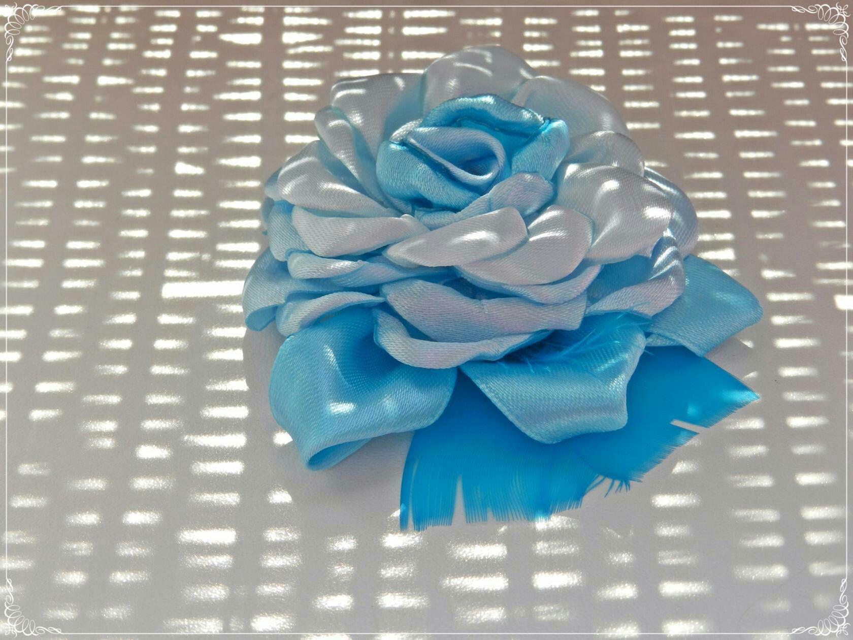 Брошка голубая роза 🌹