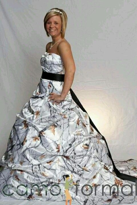 Redneck wedding dress ;D I like the camo idean not the whole puff ...