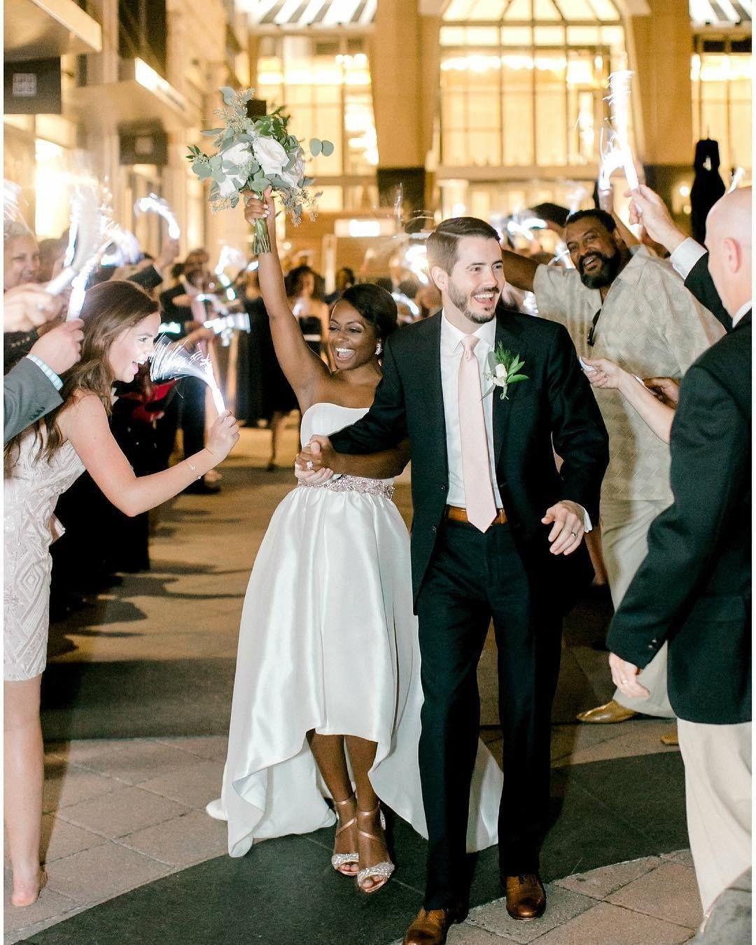 9b2c468035ae4 Featuring DB Studio Mikado High-Low Wedding Dress from David's Bridal |  Photo: Casey Hendrickson Photography