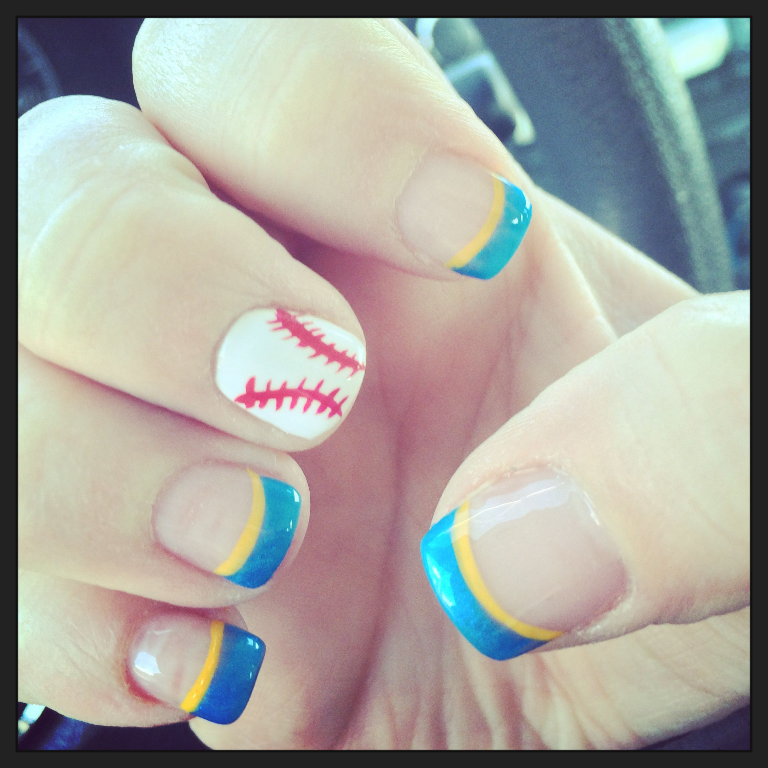 Milwaukee Brewers Nails #openingday2014 Nail Art And Design