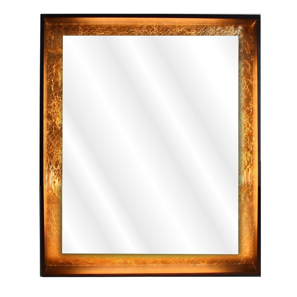 Dyconn Apollo 30 In X 36 In Framed Led Wall Mounted Backlit Vanity Bathroom Mirror With Touch On Off Dimmer M15at3036w The Home Depot Backlit Bathroom Mirror Led Mirror Framed Mirror Wall