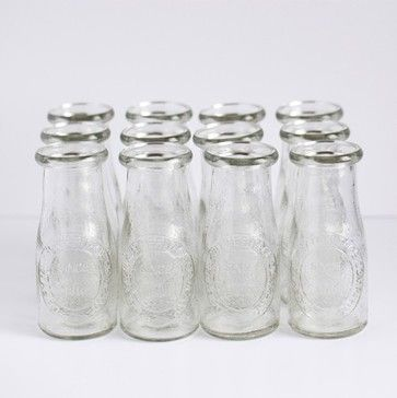 Small Glass Milk Bottles Traditional By Bake It Pretty Mini Milk Bottles Small Milk Bottles Glass Milk Bottles
