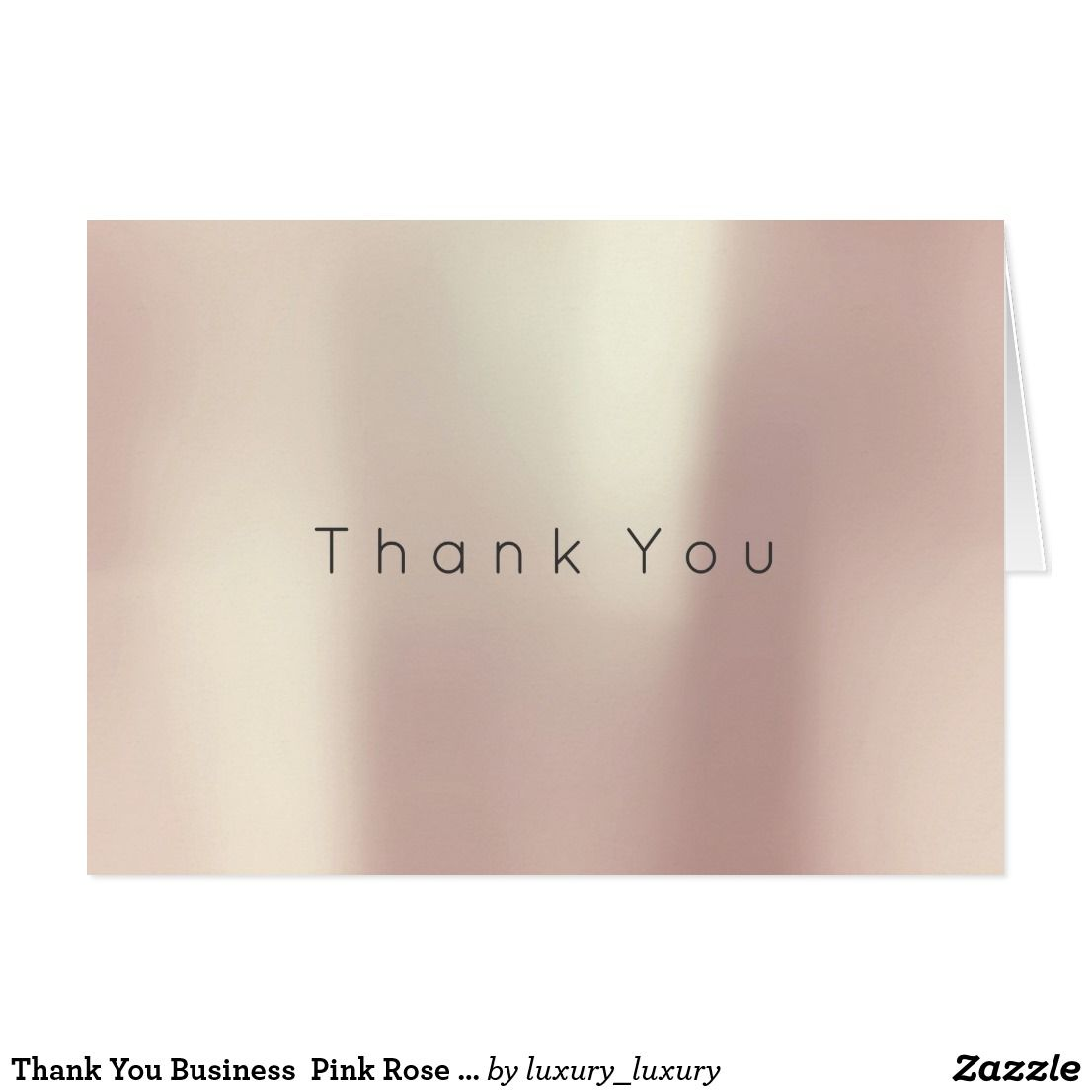 Thank You Business  Pink Rose Gold White Minimal
