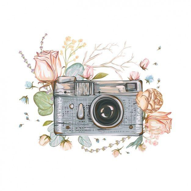 Fondo de cámara pintada a mano Vector Premium   Dibujos   Pinterest ...
