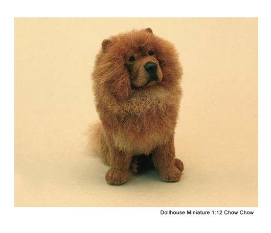 Dollhouse Miniature Chow Chow By Kerri Pajutee Felt Dog Sobaki