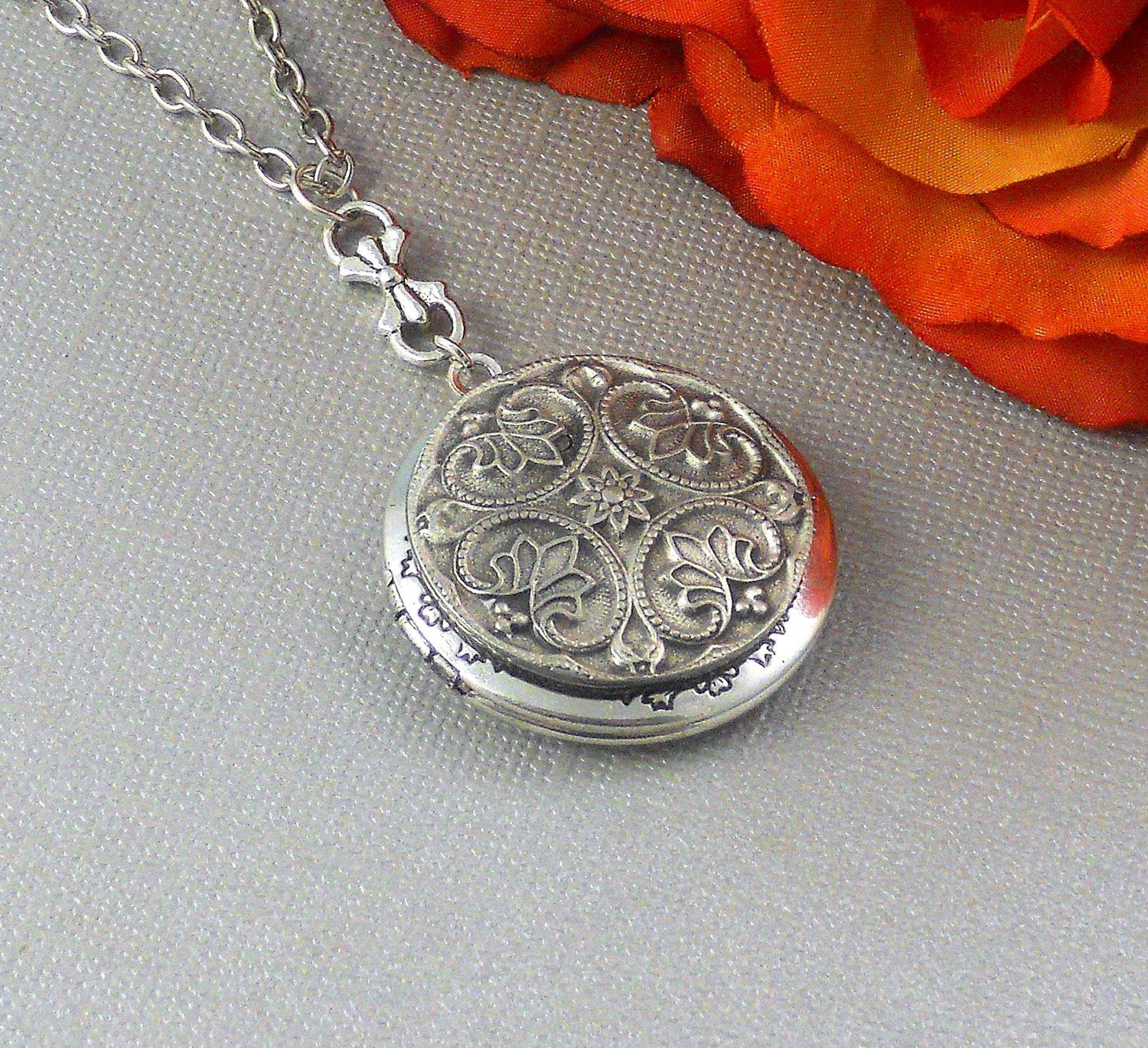 solid inset with locket product real diamond silver celtic lockets chain to jewellery