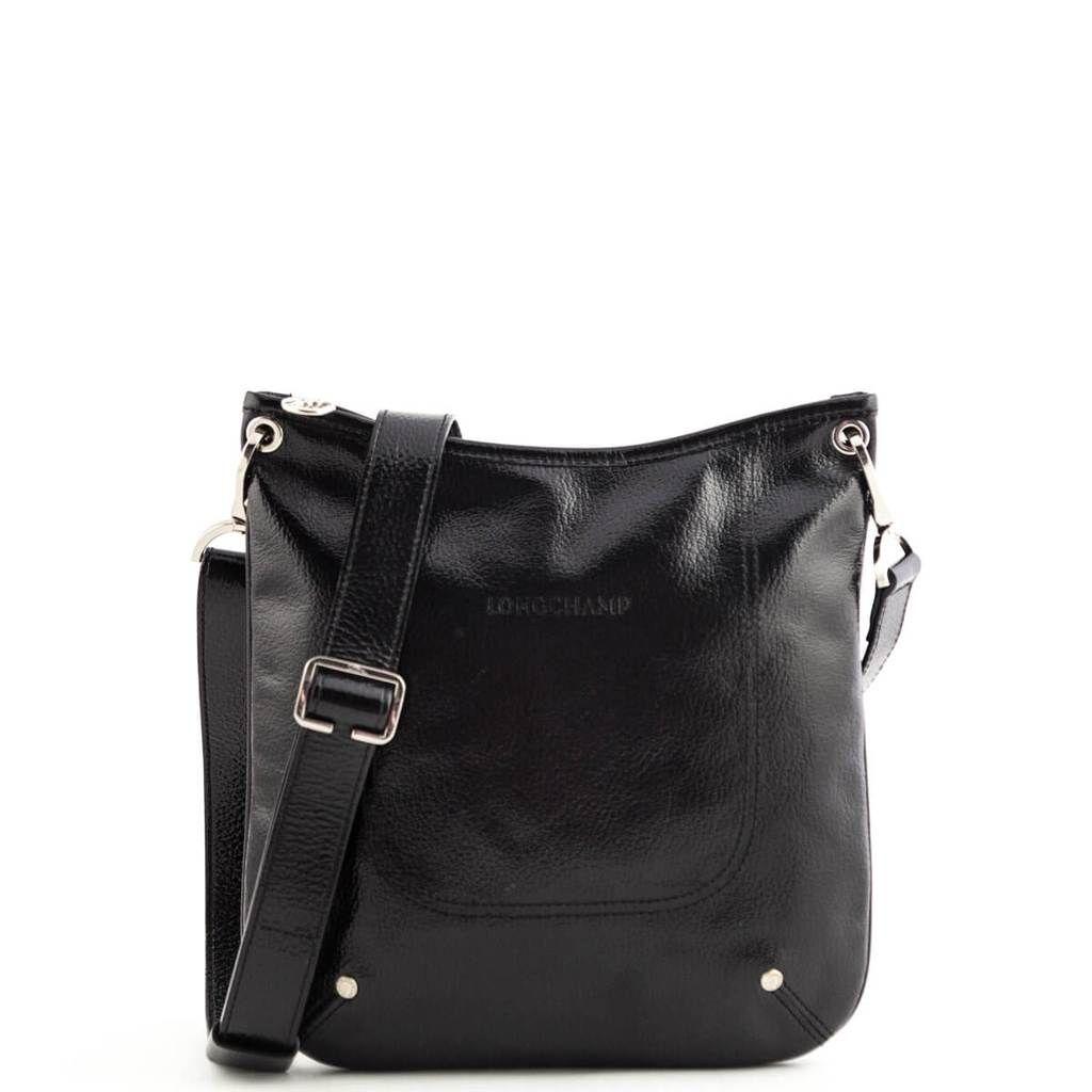 Longchamp Black Patent Le Foulonne Crossbody Bag Love That Bag