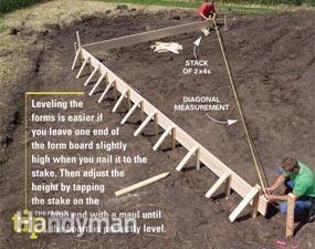Form and pour a concrete slab concrete slab big money for How to pour a concrete slab for a garage