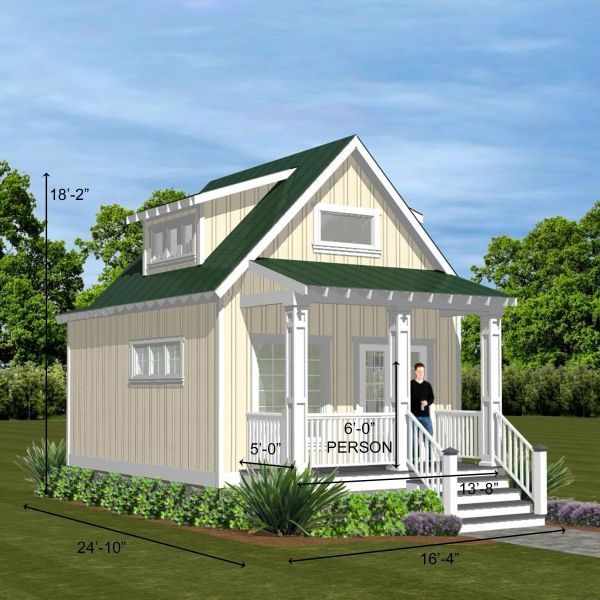 Best Renderings Flat Roof Shed Small House Plans Cottage Design 640 x 480