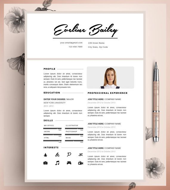 Resume Template Cv Template Editable In Ms Word And By Cvdesignco Modele De Cv Professionnel Modele Cv Cv Professionnel