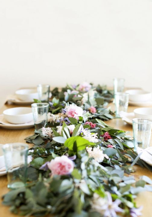 Make your hostess dreams come true by learning how to create this DIY Floral Garland for your table. This would make the perfect addition to any celebration or brunch—including Mother's Day!