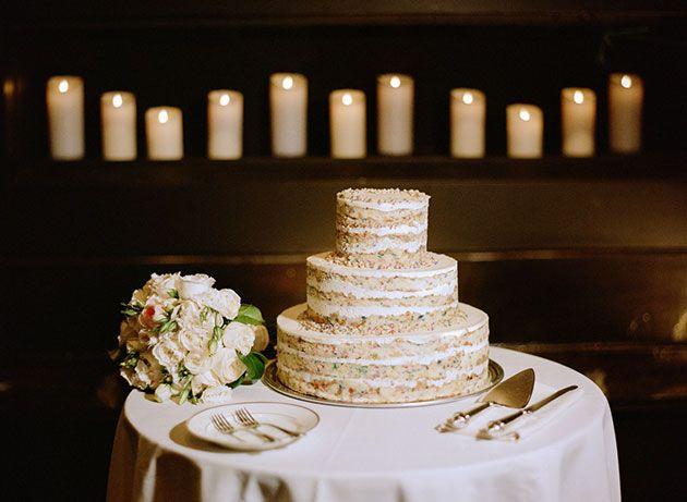 An Early Spring Wedding in Long Island City NY Birthday cake