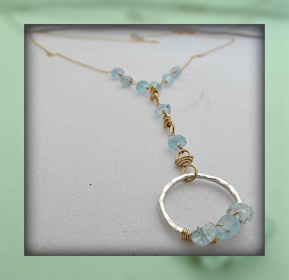 Blue as the Sea Necklace by RoseGilleyDesigns on Etsy, $110.00
