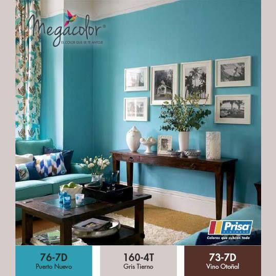 ambientes relajantes y con tonos azules y muebles de madera insprate con megacolor