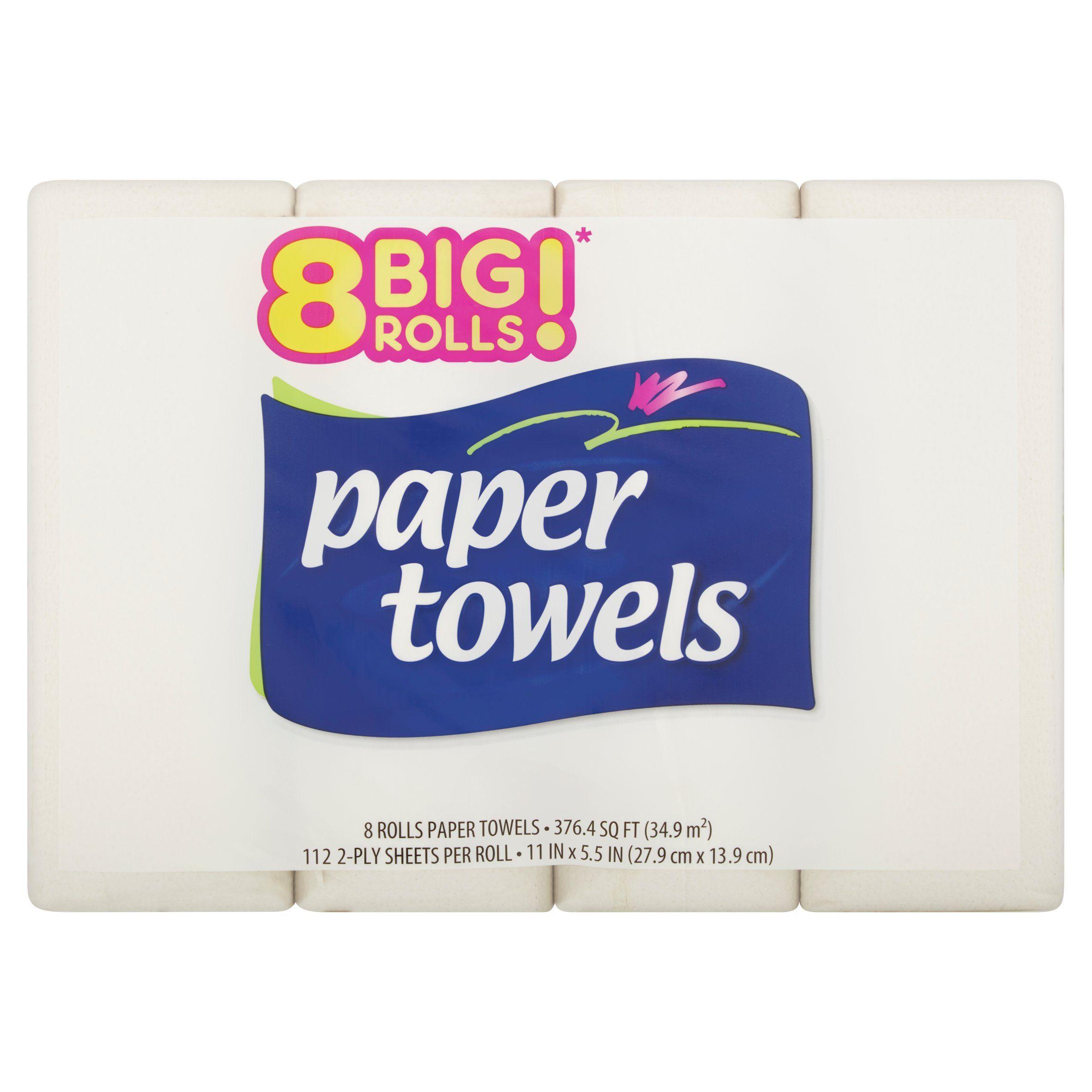 Strong & Absorbent Big Roll Paper Towels, 112 sheets, 8