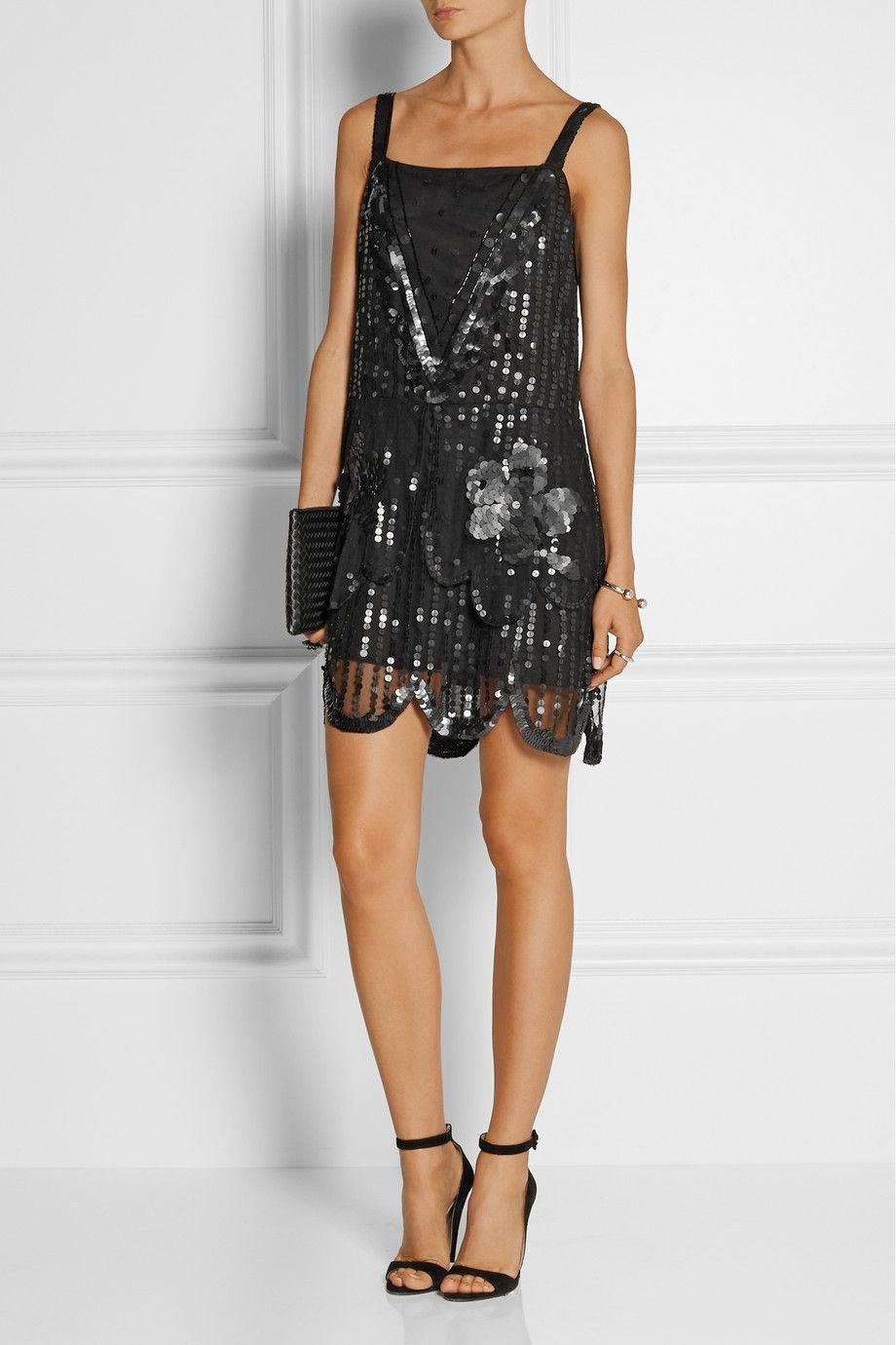 Anna Sui|Sequin-embellished tulle dress|NET-A-PORTER.COM