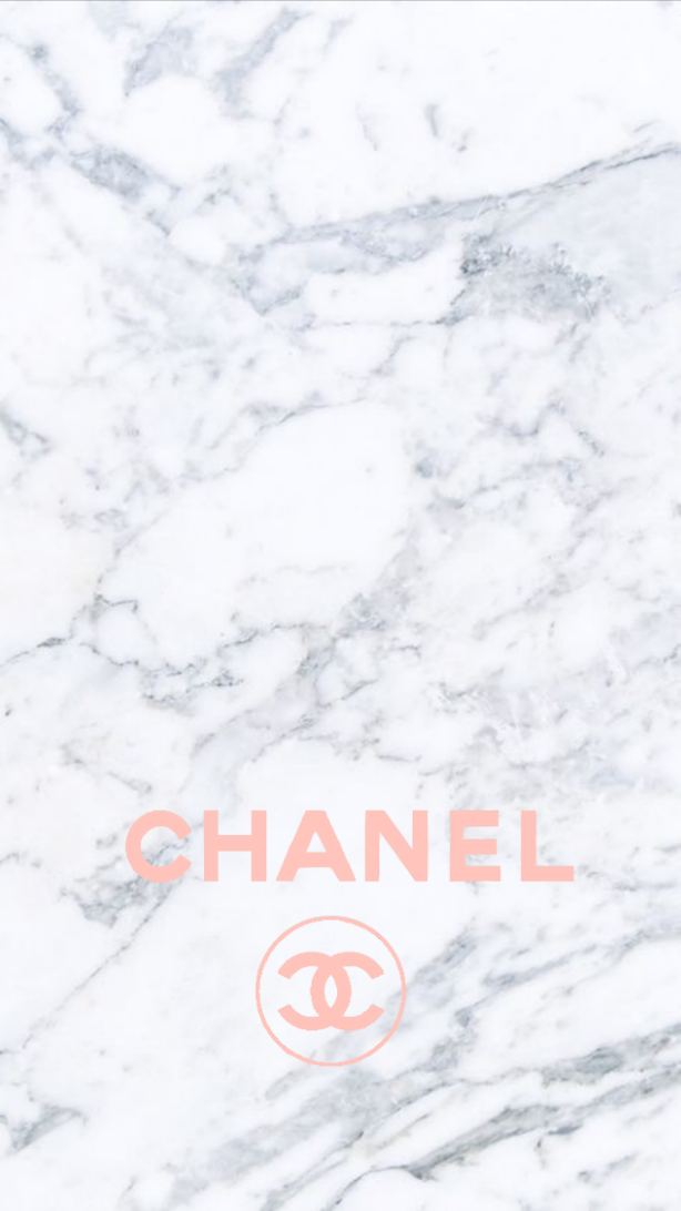 Pink Chanel logo marble iphone background Art