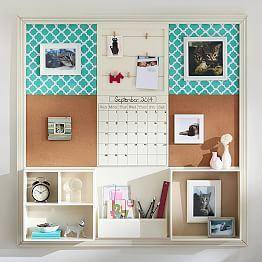 On sale for 499 at pottery barn teen could definitely for Diy bulletin board for bedroom
