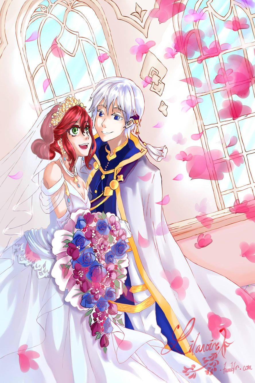 Akagami No Shirayukihime Prince Zen And Shirayuki Get Married Already Snow White With The Red Hair Beautiful Red Hair Unusual Hair Colors