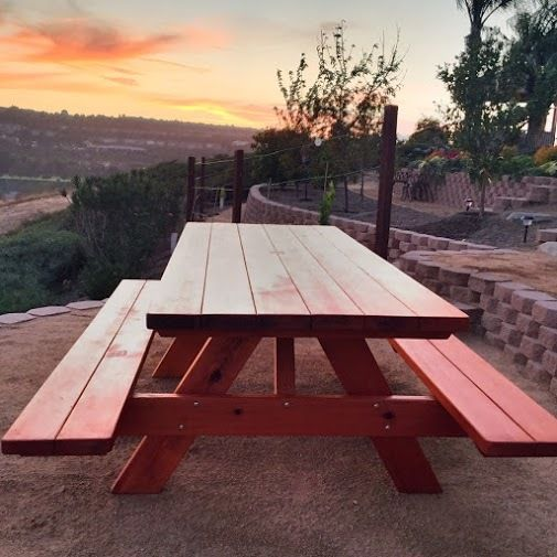 OUTDOOR WOOD PICNIC TABLE KITS HANDCRAFTED FROM REDWOOD ONLY THE - Best wood for picnic table