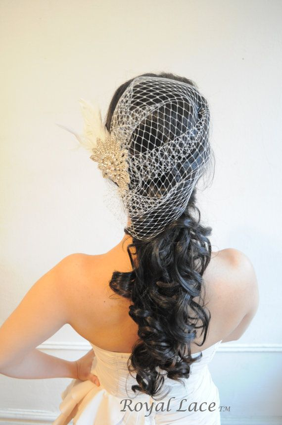 BIRDLAND wedding bridal hair accessory feathers by RoyalLaceBridal, $129.99