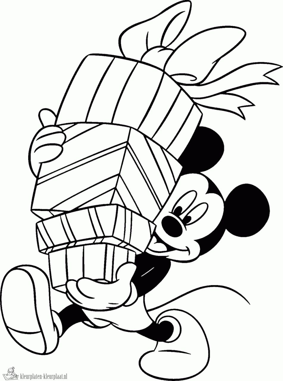 Mickey Mouse Verjaardag Kleurplaat Olivinum Com Pinterest