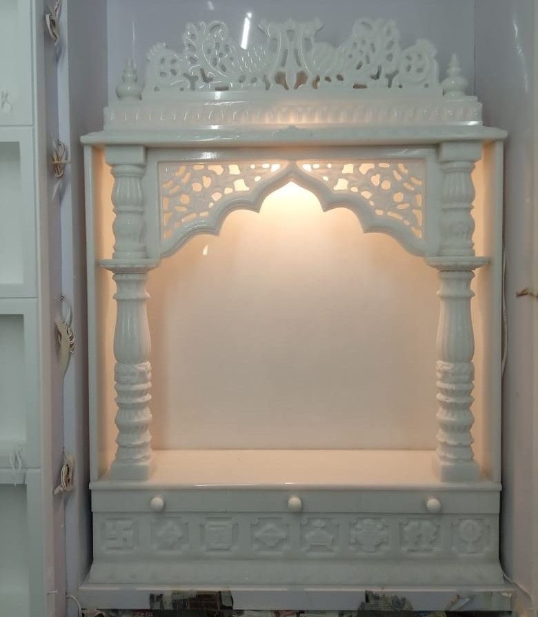 Indian Homeinterior Design: Pooja Room Design , Plaster Ceiling Design