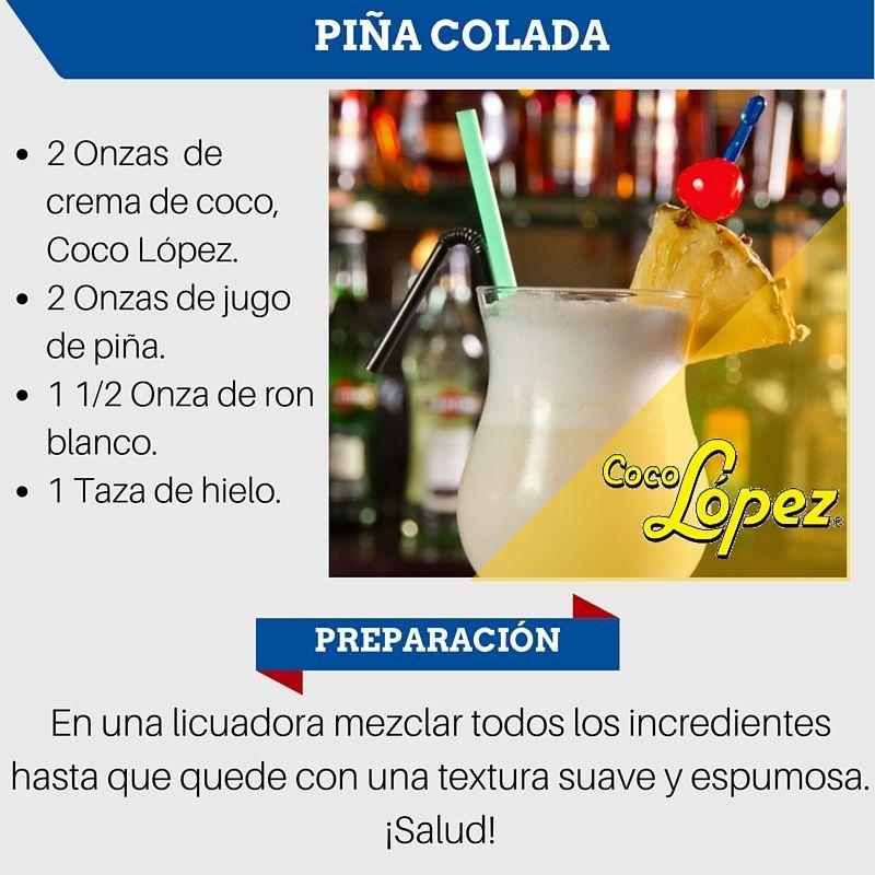 Piña Colada Con Coco López Cocolopez Piñacolada En