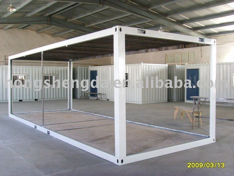 Flat packed 20feet shipping container frame house frame for Structure container maritime